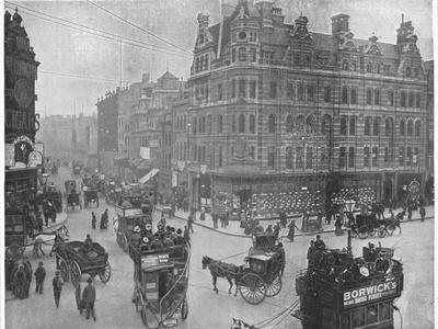 Tottenham Court Road corner, London, c1903 (1903)-Unknown-Framed Photographic Print