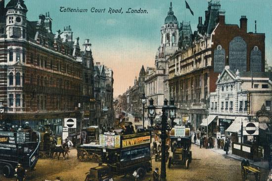 'Tottenham Court Road, London', 1915, (c1900-1930)-Unknown-Giclee Print