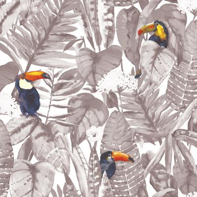 Toucan Newspaper Self-Adhesive Wallpaper