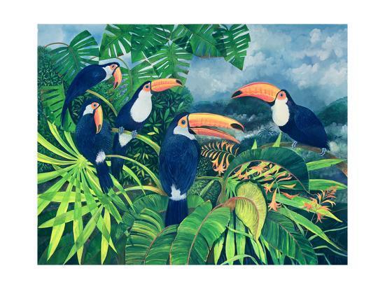 Toucan Talk-Lisa Graa Jensen-Giclee Print