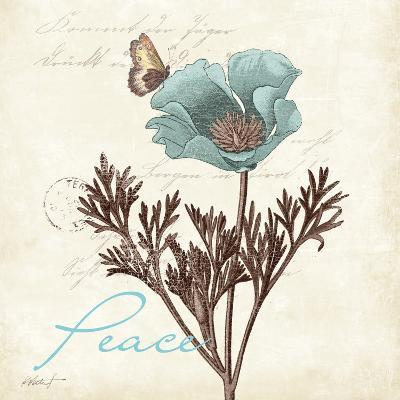 Touch of Blue I (Peace)-Katie Pertiet-Art Print