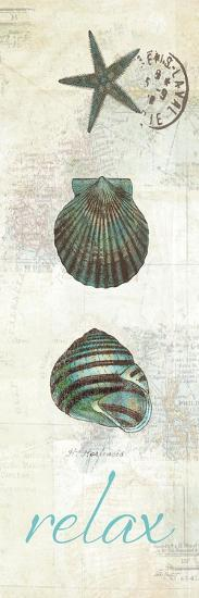 Touch of Blue Shells I-Katie Pertiet-Premium Giclee Print