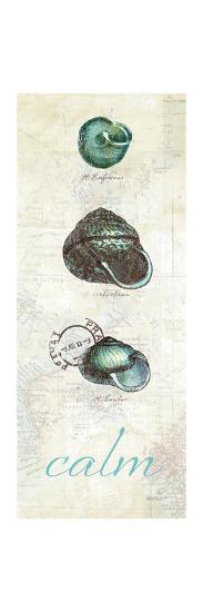 Touch of Blue Shells II-Katie Pertiet-Premium Giclee Print