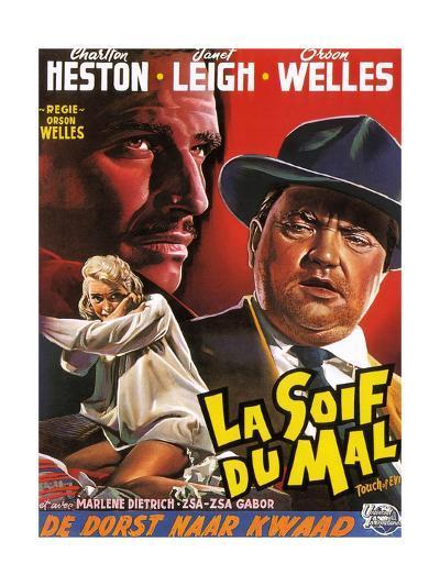 Touch of Evil, (aka La Soif Du Mal), Janet Leigh, Charlton Heston, Orson Welles, 1958--Giclee Print