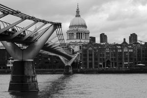 St Paul's Millennium Bridge BW by Toula Mavridou-Messer