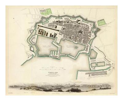 Toulon, France, c.1840--Art Print