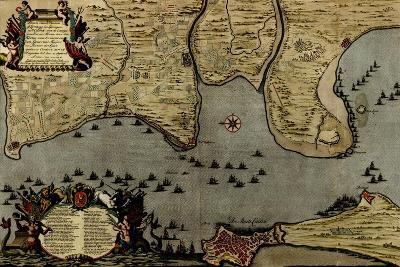 Toulon, France Harbor and Defenses - 1700-Anna Beeck-Art Print