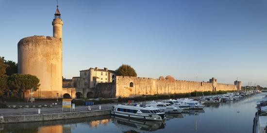 Tour De Constance Tower and City Wall at Sunset, Languedoc-Roussillon-Markus Lange-Photographic Print
