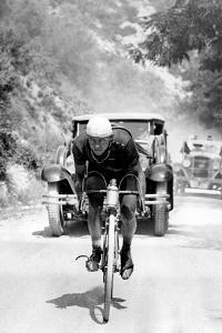 Tour De France 1929, 13th Leg Cannes/Nice on July 16 : Benoit Faure on the Braus Pass