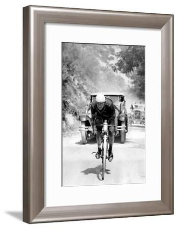 Tour De France 1929, 13th Leg Cannes/Nice on July 16 : Benoit Faure on the Braus Pass--Framed Photo