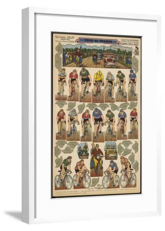 Tour De France Cutout--Framed Giclee Print