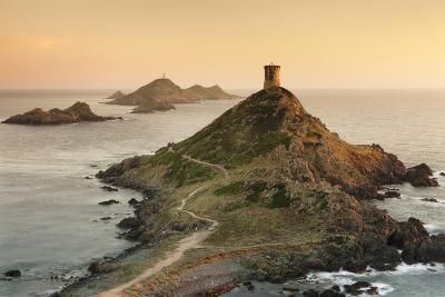 Tour De La Parata and the Islands of Iles Sanguinaires, Corsica, France, Mediterranean, Europe-Markus Lange-Photographic Print