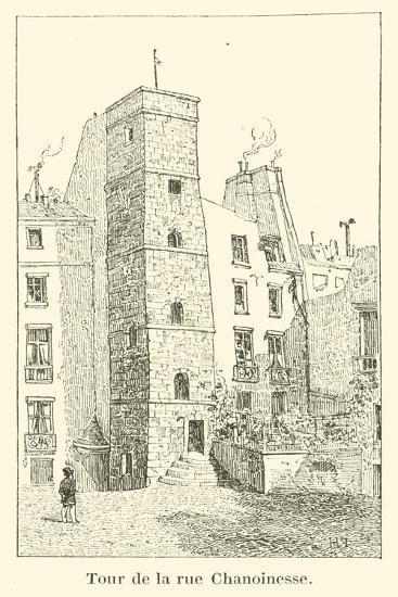 Tour De La Rue Chanoinesse--Giclee Print