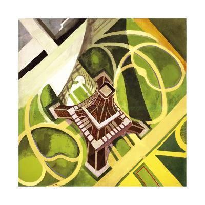 Tour Eiffel et Jardin du Champs de Mars, 1922-Robert Delaunay-Premium Giclee Print
