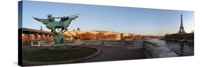 Tour Eiffel Good Morning Paris--Stretched Canvas Print
