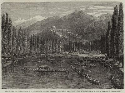 Tour of the Lieutenant-Governor of the Punjaub Through Cashmere, Arrival at Srinnuggur--Giclee Print