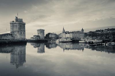 Tour St-Nicholas and Tour De La Chaine Towers at Dawn, Old Port, La Rochelle, Charente-Maritime--Photographic Print