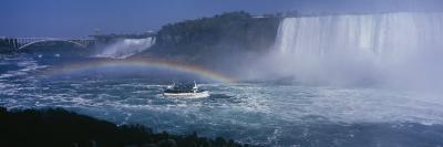 Tourboat near Waterfalls, Niagara Falls, Ontario, Canada--Photographic Print
