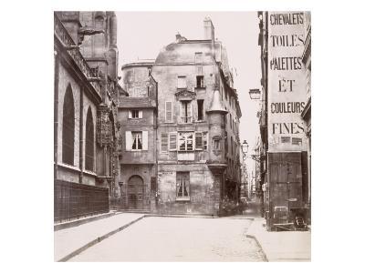 Tourelle derrière l'église Saint-Germain-l'Auxerrois, Paris-Charles Marville-Giclee Print