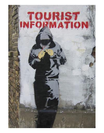 Tourist Information-Banksy-Art Print
