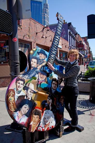Tourist on Main Street in Nashville Tennessee--Photographic Print