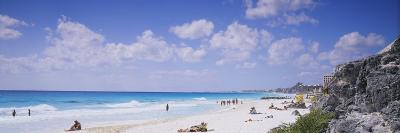 Tourist on the Beach, Cancun, Mexico--Photographic Print