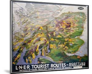 Tourist Routes in Scottish Highlands