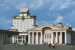 Tourists at a Cultural Centre, Ulan Bator, Mongolia