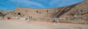 Tourists at Amphitheatre, Caesarea, Tel Aviv, Israel