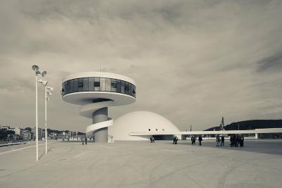 Tourists at The Oscar Niemeyer International Cultural Centre--Photographic Print