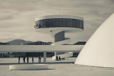 Tourists at The Oscar Niemeyer International Cultural Centre--Photographic Print