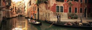 Tourists in a Gondola, Venice, Italy