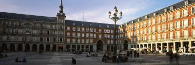 Tourists in the Courtyard of a Building, Plaza Mayor, Madrid, Spain--Photographic Print