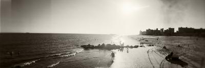 Tourists on the Beach, Coney Island, Brooklyn, New York City, New York State, USA--Photographic Print