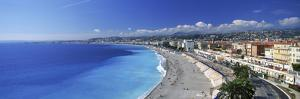 Tourists on the Beach, Nice, Promenade Des Anglais, Provence-Alpes-Cote D'Azur, France