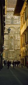 Tourists on Via Dei Servi with Florence Cathedral in the Background, Florence, Tuscany, Italy