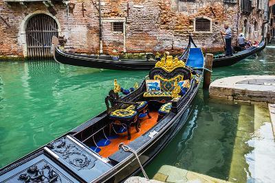 Tourists Travel on Gondolas at Canal-Alan64-Photographic Print