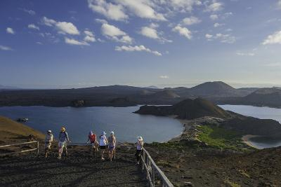 Tourists Viewing the Coast of Bartolome Island-Jad Davenport-Photographic Print
