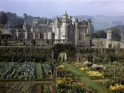 Tourists Walk in Gardens of Abbotsford House-B^ Anthony Stewart-Photographic Print