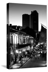 Tourists walking in the street, Bourbon Street, French Quarter, New Orleans, Louisiana, USA