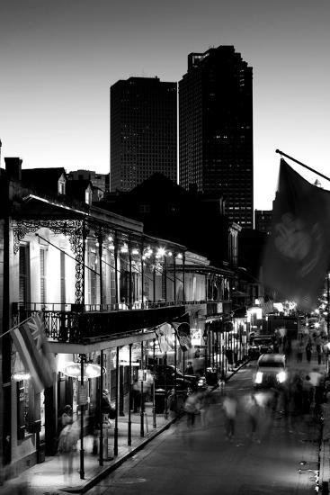 Tourists walking in the street, Bourbon Street, French Quarter, New Orleans, Louisiana, USA--Photographic Print