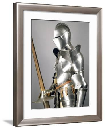 Tournament Armor in Steel with Lance in Steel and Wood, 1560-1580, Italy--Framed Giclee Print