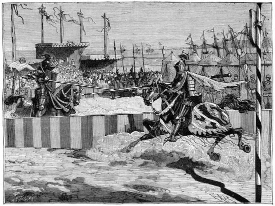 Tournament for the Coronation of Louis II D'Anjou, Near Calais, C1389 (1882-188)--Giclee Print