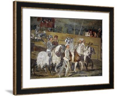 Tournament in Honor of King Christian of Denmark, Attributed to Marcello Fogolino, Detail--Framed Giclee Print