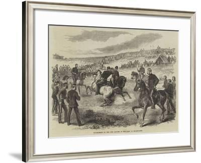 Tournament of the 17th Lancers in the Camp at Shorncliffe--Framed Giclee Print