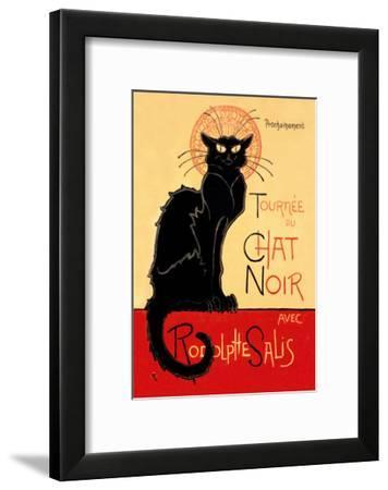 Tournee du Chat Noir Avec Rodolptte Salis-Th?ophile Alexandre Steinlen-Framed Art Print