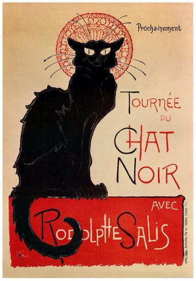Tournee Du Chat Noir-Th?ophile Alexandre Steinlen-Art Print