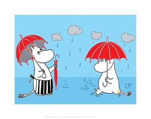 Moominmama and Snorkmaiden in the Rain by Tove Jansson