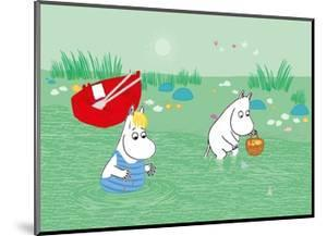 Moominmama and Snorkmaiden in the Water by Tove Jansson