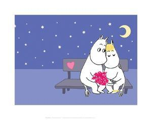 Moomintroll and Snorkmaiden Under the Stars by Tove Jansson